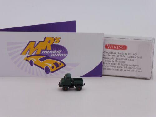 "1956-66 /"" dunkelgrün /"" 1:160 NEU Wiking 0972 04 # Mercedes-Benz Unimog U 411 Bj"