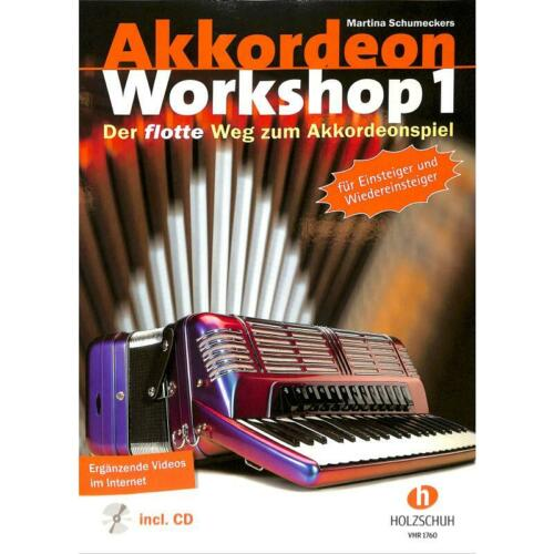 /% Schumeckers ACCORDEON WORKSHOP 1 Noten Akkordeon VHR 1760 Holzschuh Schule