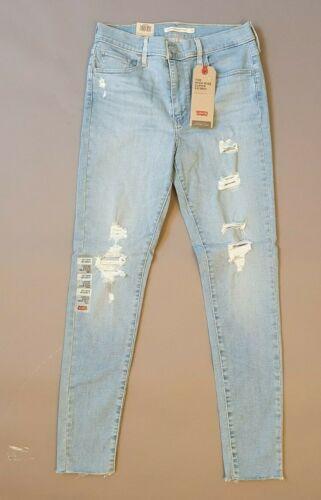 Jeans Femmes Levi/'s 720 High-Rise Super Skinny destructed Taille w28+30 x l30 Bleu