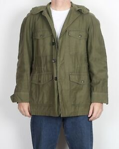 Army-Field-Jacket-Small-36-034-38-034-Green-G3E-Button-1950-039-s