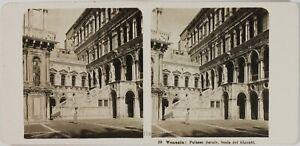 Italia Venezia Palazzo Ducale Scala Dei Giganti, Foto Stereo Vintage Analogica