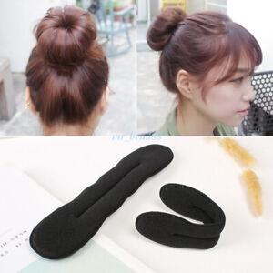 2PCS-Magic-Sponge-Clip-Foam-Donut-Hair-Styling-Bun-Curler-Tool-Maker-Ring-Twist