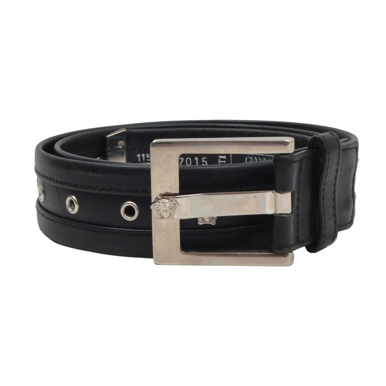 GIANNI VERSACE Vintage Gürtel Belt Medusa Made Italy 115 46 Schwarz Black 37015