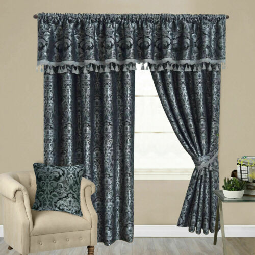 Ready Made Curtains Fully lined Luxury Jacquard  With Palmet and Tie Back