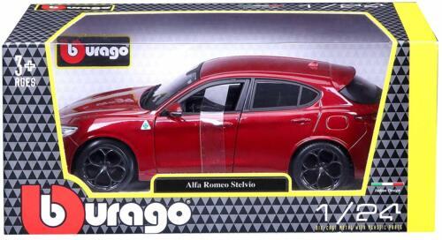 ALFA ROMEO STELVIO 1:24 scale diecast model car die cast toy miniature red