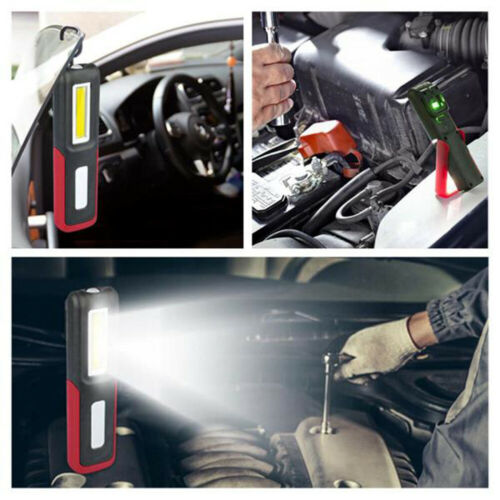 COB LED Magnetic Work Light Car Inspection Lamp Garage Rechargeable Hand Torches