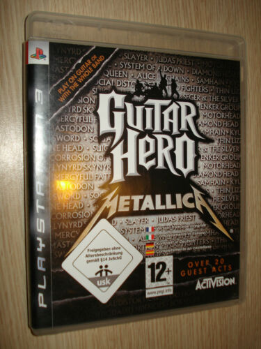 GAME PS3 PLAYSTATION 3 GUITAR HERO METALLIC COMPLETELY IN ITALIAN