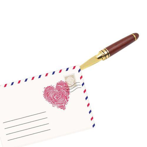 Retro Brieföffner Schreibwaren Weihnachten Holzgriff Geschenkpackung Vintage