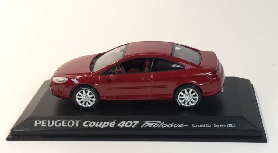 Peugeot 407 Coupè Salon Geneve 2005 rouge 474775 1 43 Norev