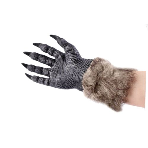 1 of 1 - 1 Pair Halloween Werewolf Wolf Paws Claws Cosplay Gloves Creepy Costume Party CP