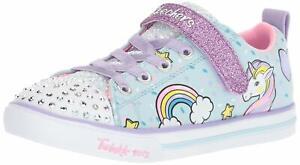 Calvo arrojar polvo en los ojos abajo  Skechers Sparkle Lite-Unicorn Little Girl's Light Blue/Multi Sneakers 7M  NW/OB | eBay