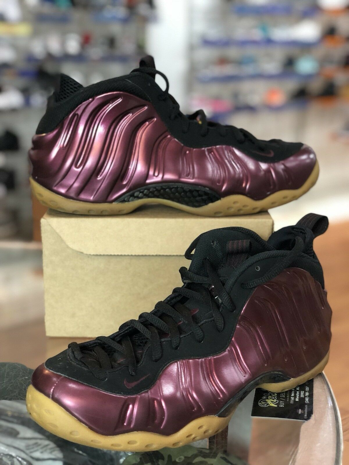 Nike Air Foamposite One Night Maroon / Black 314996 601 Sz 10.5 The most popular shoes for men and women