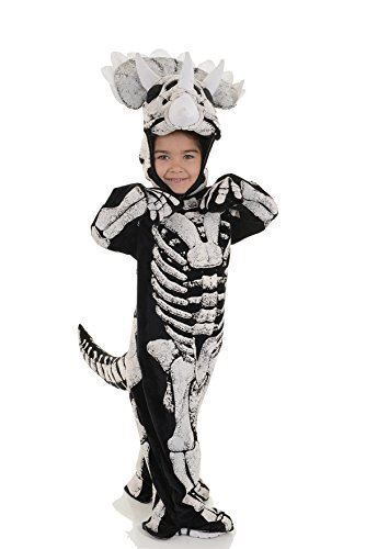 3 Sizes Kids Triceratops Fossil Costume