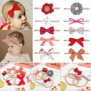 Style-Bowknot-Bow-Knot-Nylon-Hairband-Baby-Headband-Hair-rope-Hair-Accessories