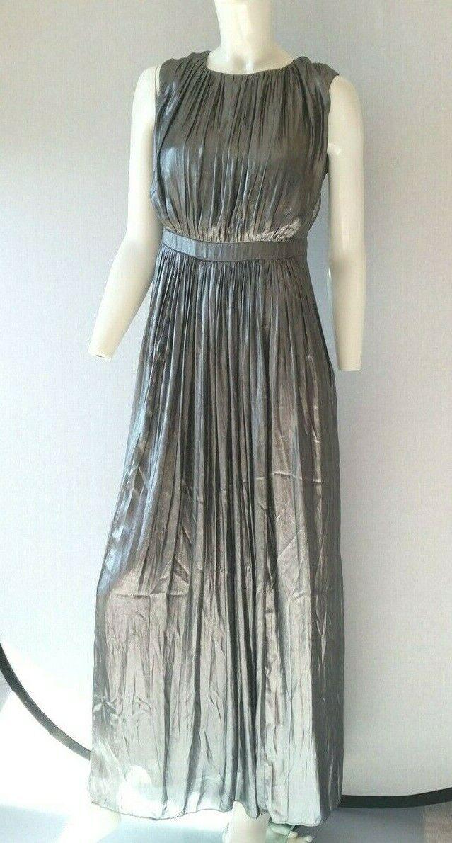 aa0c424cbae Hondrocream ist die Schnellste ESPRIT langes langes langes Kleid Georgette  shine silber Gr.36---NEU mit
