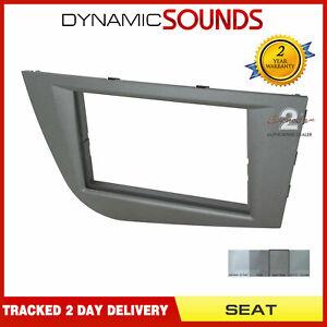CT24ST29-Stereo-Double-Din-Fascia-Facia-Panel-Dark-Grey-For-Seat-Leon-05-12-Mk2