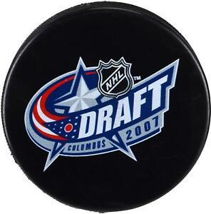 2007-NHL-Draft-Unsigned-Draft-Logo-Hockey-Puck-Fanatics