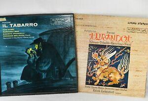 Puccini Vinyl LPs: TURANDOT & IL TABARRO - Tebaldi, Nilsson - RCA Red Seal