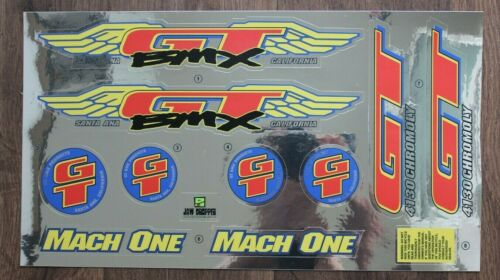 Chrome Backing Reproduction 1994 GT Mach One BMX Decal Set