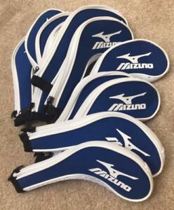 11PCS-bleu-Mizuno-Golf-Club-Iron-Covers-Headcovers-Long-Fermeture-Eclair-Haute-Qualite-UK