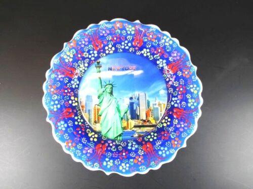 New York Amerika USA Souvenir Teller Wandteller Plate 18 cm,Keramikteller,(4)