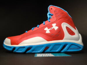 the latest 1d743 e5fd0 Image is loading UNDER-ARMOUR-UA-SPINE-BIONIC-BASKETBALL-SHOES-RED-
