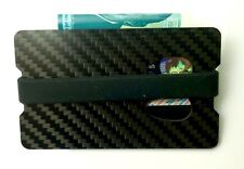 Carbon Fibre Card & Money Holder Clip RFID 100% Genuine Carbon Fibre Very Lightt