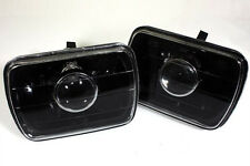 7X6 H6052/H6054 BLACK PROJECTOR SEALED BEAM HEADLIGHTS REPLACEMENT CONVERSION