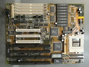Vintage-Socket-7-Motherboard-GA-586AT-Intel-Chipset-32MB-RAM-4-ISA-Ports-3-PCI