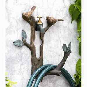 Spi Home Bird Branch Wall Spigot Mounted Hose Holder Birds