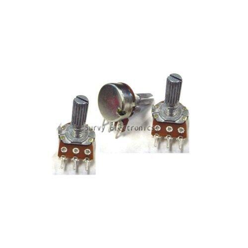 10pcs 1K Ohm Linear Taper Rotary Potentiometer Panel pot B1K 15mm
