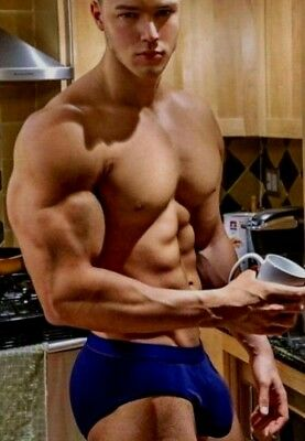 Shirtless Male Muscular Beefcake Hunk Amazing Body Briefs Muscle PHOTO 4X6 F988