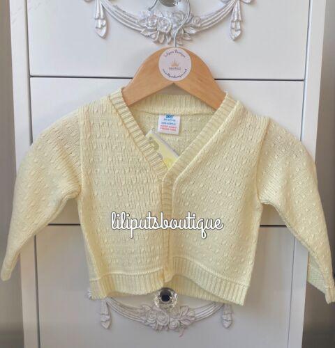 Baby Girl Boy Unisex Traditional Spanish Lemon Cardigan