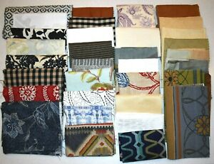 5-Lbs-LOT-33-Pieces-FABRIC-SAMPLE-Swatch-amp-Remnants-MIXED-COLORS-Prints-amp-Solids