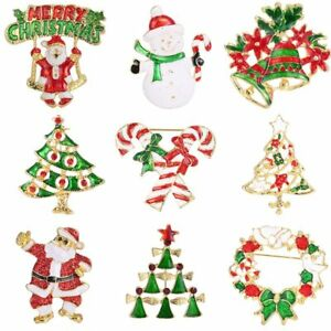 6d493efb0b5 Image is loading Fashion-Christmas-Santa-Claus-Brooches-Pins-Women-Jewelry-
