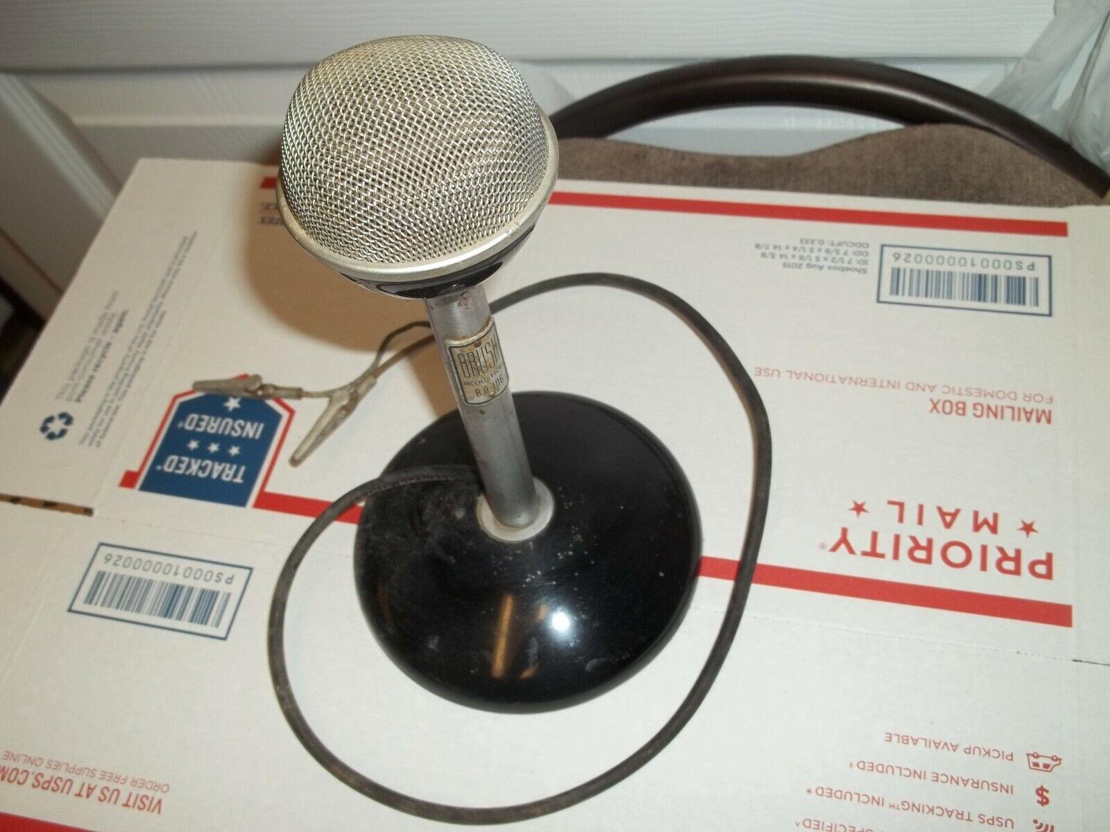 VINTAGE 1940s ASTATIC BRUSH BA-106 CRYSTAL MICROPHONE RARE VINTAGE