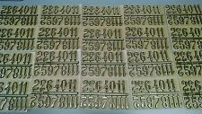 """1"""" Self-Adhesive Gold Arabic Clock Numbers- 20 SETS- Hot Stamped USA made"""