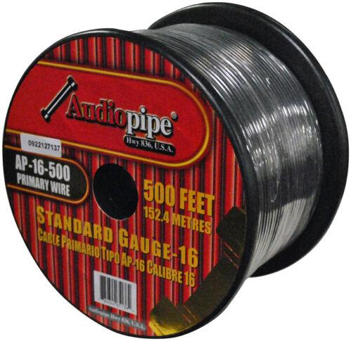 Audiopipe 16 Gauge 500Ft Primary Wire Black