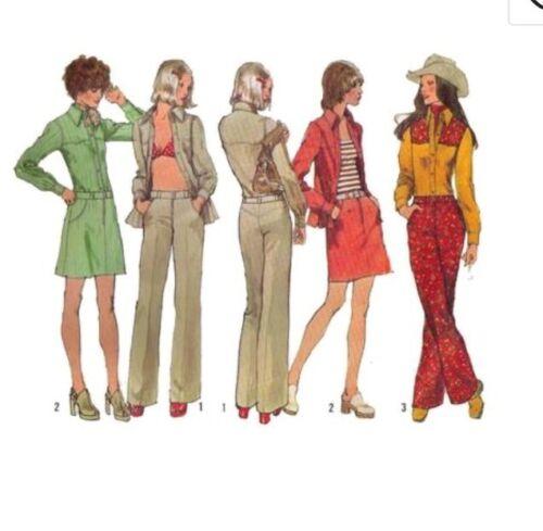 Simplicity 5517 sewing pattern Femmes Chemise Mini-jupe pantalon déhanchés 12 buste 34