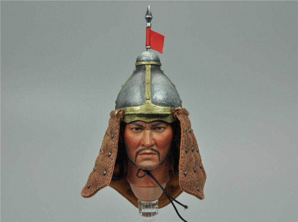 Helmet & Gorget for Kongling KLG-R014 Ming Dynasty Liaodong Mongol Cavalier 1/6
