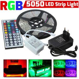 10M-3528-SMD-RGB-600-LED-luz-de-tira-de-cinta-de-Cuerda-con-control-remoto-infrarrojo-44-Teclas