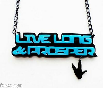 "Starfleet Command Star Trek /"" Engraving Necklace Tag /"" long live and prosper"