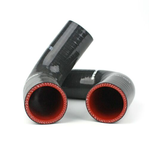 90 Degree SILICONE HOSE  ELBOWS ID 1.5/'/' 38mm LEG 120mm with Clamps
