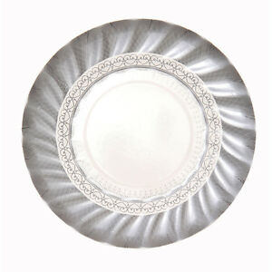 Image is loading 12-x-small-Silver-Paper-Plates-Silver-Wedding-  sc 1 st  eBay & 12 x small Silver Paper Plates - Silver Wedding 25th Anniversary ...