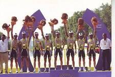 CYCLISME carte  équipe ONCE podium TOUR DE FRANCE 2002