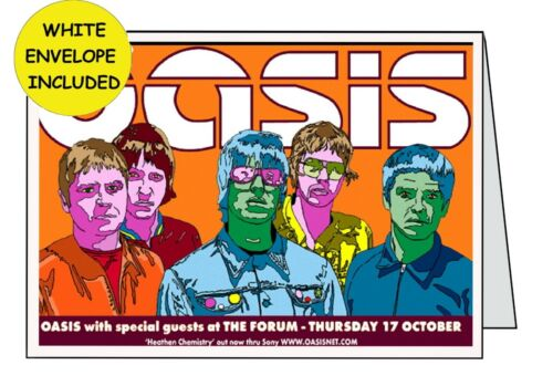 OASIS PERSONALISED HANDMADE CARD INSIDE OUTSIDE BIRTHDAY ANNIVERSARY OPEN