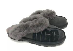 5ed14a29986 Details about Ugg Australia Coquette Sparkle Black 1098190 Women's Slippers  House Shoes Logo 7
