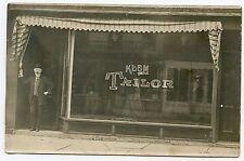 RPPC NY Owego Klem Tailor Shop Store Front Tioga County