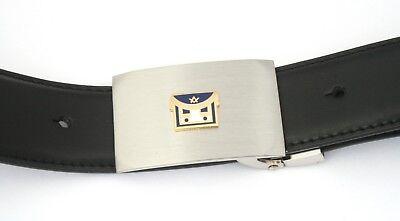 Bescheiden Masonic Apron Belt And Buckle Set Black Leather Ideal Masonic Gift 232