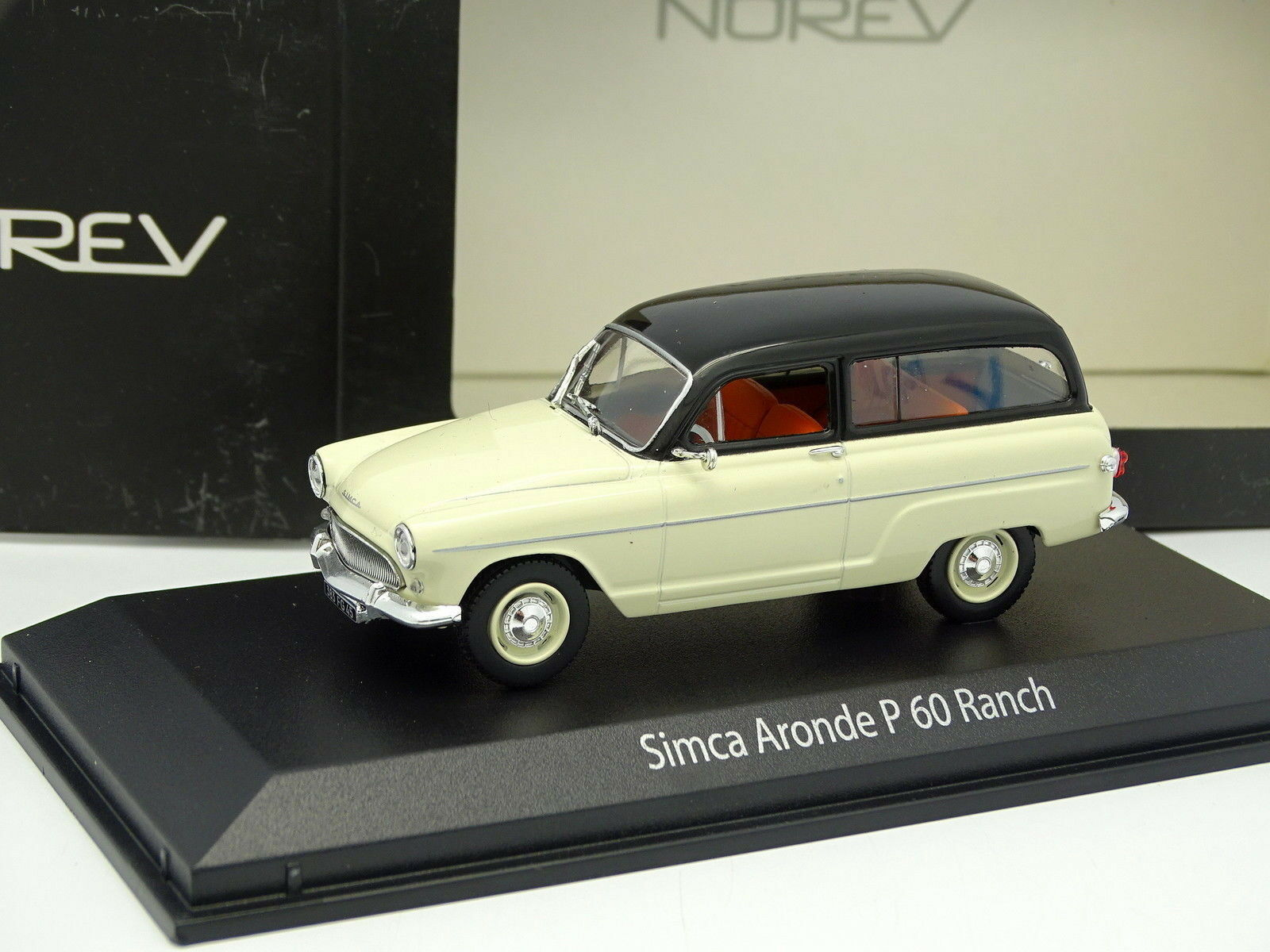 Norev 1 43 - Simca P60 Ranch white und black